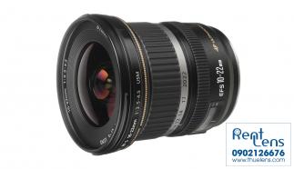 Cho thuê lens Canon 10-22mm f/3.5-4.5 USM crop