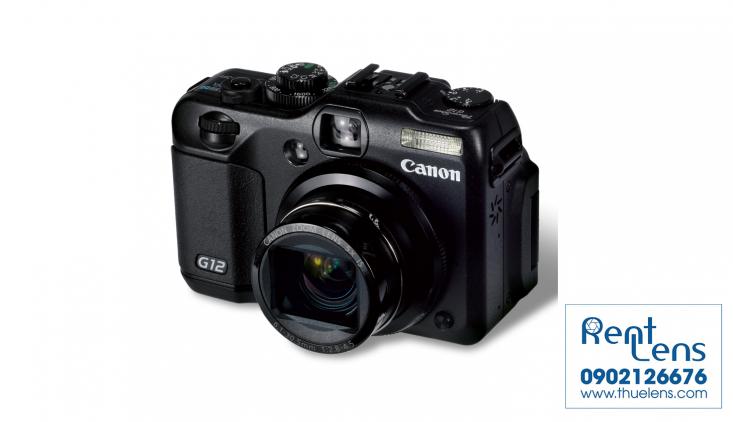 Body:Cho thuê máy du lịch Canon - Canon Powershot G12