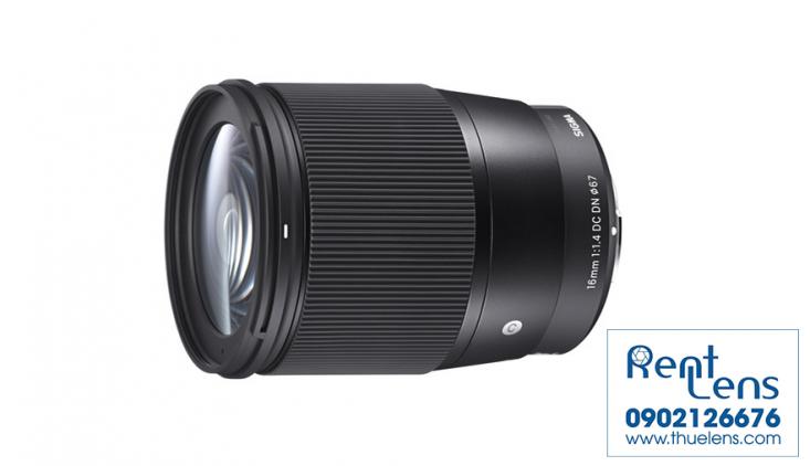 Cho thuê lens Sony:Cho thuê lens Sigma 16 f/1.4 for Sony